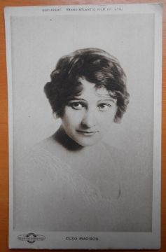 Cleo Madison, Actress, Vintage Postcard, Trans-Atlantic Film Co, 1915